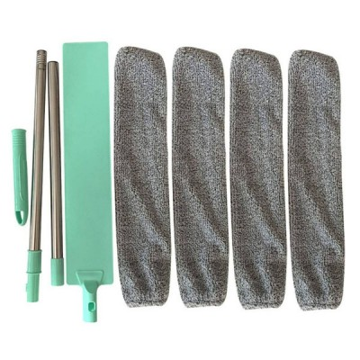 Long Reach Extendable Telescopic Washable Flat Gap Under Appliance Radiator Microfibre Cleaning Duster Mop Sweep Wand Tool